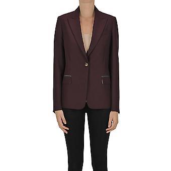 Golden Goose Ezgl041105 Women's Burgundy Polyester Blazer