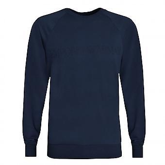 EA7 Men's Blue Lounge Sweatshirt