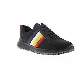 Camper Tws Mens Black Canvas Low Top Lace Up Euro Sneakers Schoenen