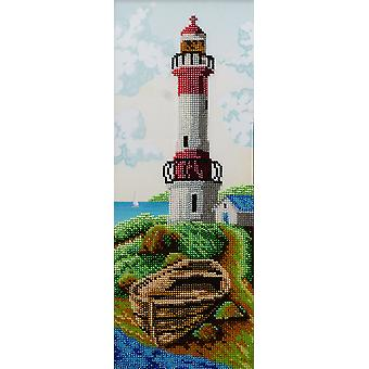 VDV Bead Embroidery Kit - Lighthouse Breaking Wave