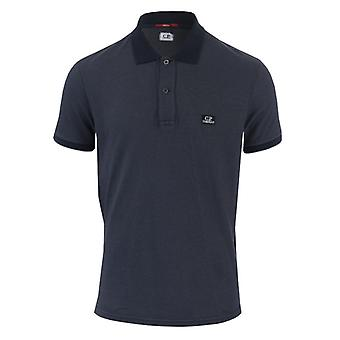 Men's C.P. Company Garment Dyed Polo Shirt in Blue