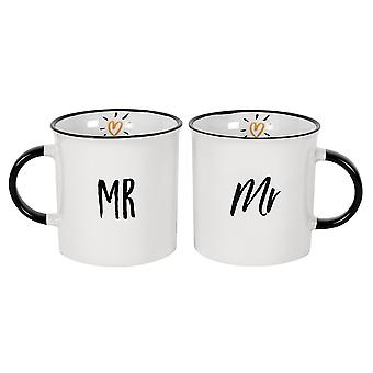 Something Different Mr and Mr Mugs (Set of 2)