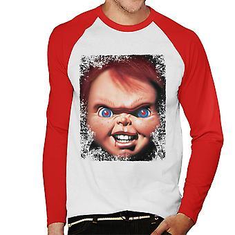Chucky Face närbild män ' s baseball Långärmad T-shirt