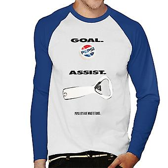 Pepsi Goal Assist Men's Baseball Long Sleeved T-Shirt
