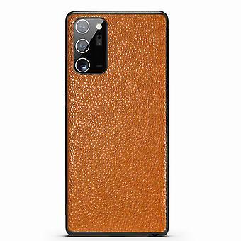 For Samsung Galaxy Note 20 ultra tilfelle ekte skinn beskyttende deksel brun