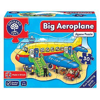 Boomgaard speelgoed Jigsaw woord puzzel grote vliegtuig