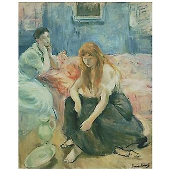 Print on canvas - Two Girls - Berthe Morisot - Painting on Canvas, Wall Decoration