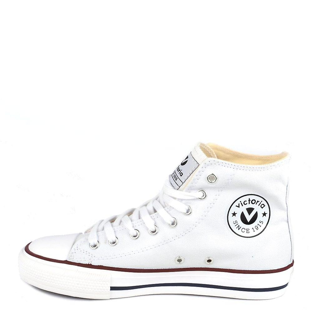 Victoria Shoes Tribu White Canvas Hi-top Trainer