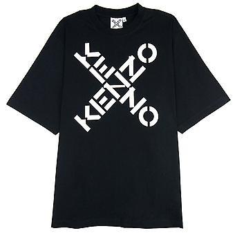 Kenzo X Sport Logo T Shirt Schwarz/Weiß