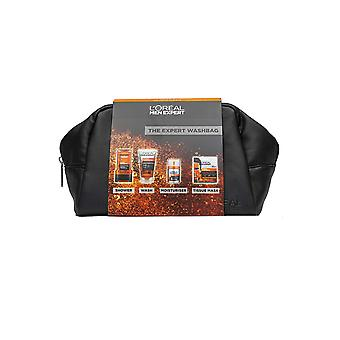 L'Oreal Men Expert The Complete Washbag - Shower, Roll on Wash, Facial Moisturiser, Mask