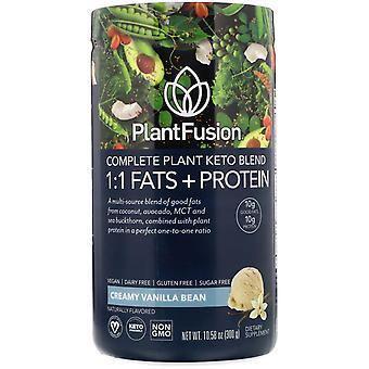 PlantFusion, Complete Plant Keto Blend, 1:1 Fats + Protein, Creamy Vanilla Bean,