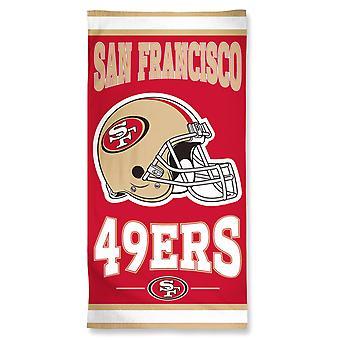 Wincraft NFL San Francisco 49ers ranta pyyhe 150x75cm