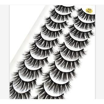 3d Faux Mink Eyelashes Natural Thick Long False Eyelashes Dramatic Fake Lashes Makeup Extension