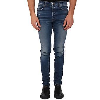 Amiri W0m01201sdbl Men's Blue Cotton Jeans
