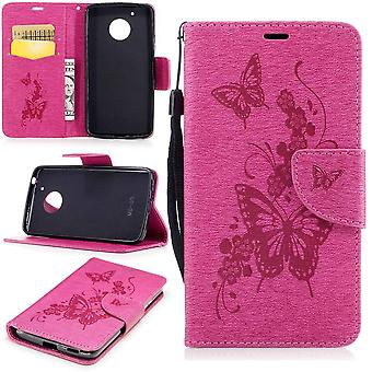 Motorola Moto G5 Mobile Case TPU Mobile Protection Magnet Protection Design-Shell Phone Pink