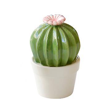 Ceramic Simulation Cactus Ball Ornaments Desktop Display Multi-petal