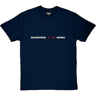 Rashford 1, Boris 0 Navy Blue Men's T-Shirt