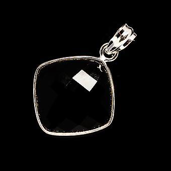 "Pingente ônix preto 1 1/2"" (925 Sterling Silver) - Handmade Boho Vintage Jewely PD735073"