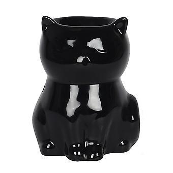Gotisk eviter svart katt olje brenner