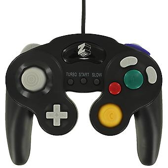 Zedlabz wired vibration gamepad controller for nintendo gamecube gc with turbo function - black