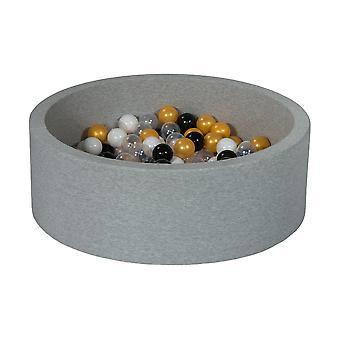 Ball pit 90 cm with 150 balls black, white, transparent, orange