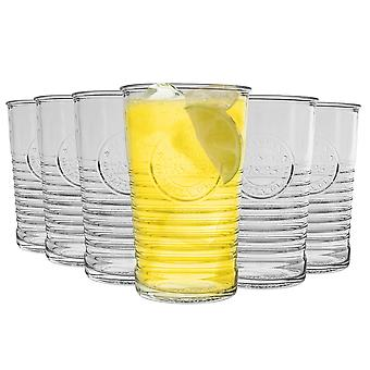 Bormioli Rocco Officina 1825 Ridged Tumbler Glasögon Set - 325ml - Förpackning med 6