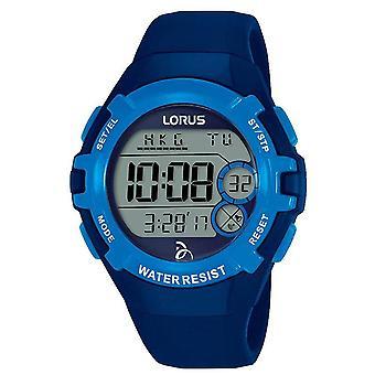Lorus Unisex Adult Zegarek cyfrowy z niebieskim paskiem silikonowym (nr modelu R2391LX9)