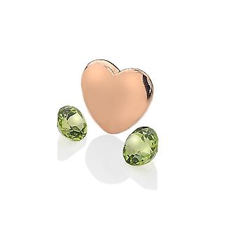 Anais Hot Diamonds Anais Rose Gold Plated Sterling Silver August Charm AC040