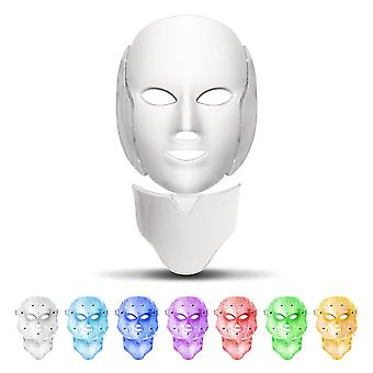 7 Colors led facial mask acne neck beauty therapy machine light