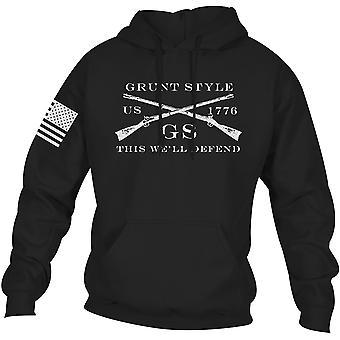 Bluza z kapturem Grunt Style Logo Basic Sweter - Czarny