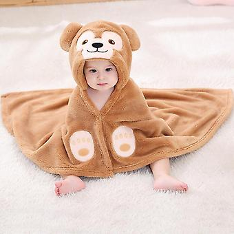Newborn Baby Duffy Bear Bathrobe, Infant Sleep Robes Hooded
