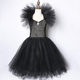 Maleficent Halloween Costumes, Kids Girls Tutu Dress, Ankel Length Dresses-