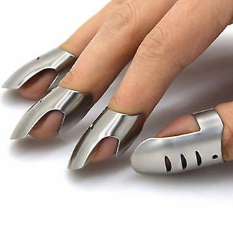 4pcs/set Stainless Steel, Finger Guard Protector -  Knife Slice Chop Safe,