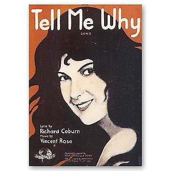 Vintage Musik-Cover Tell Me Why - Wanddeko, Canvas