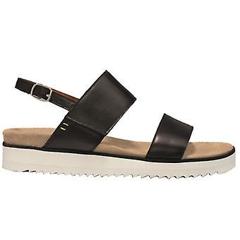 Benvado Lilly Black Leather Women's Sandal