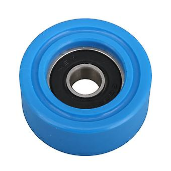 8x35x15mm 608 Ball Bearing PU Pulley Passive Roller Wheel 85 A Dark Blue