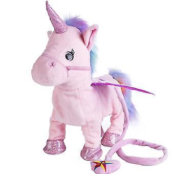 歌って歩くユニコーン電子ぬいぐるみロボット馬新しいクリスマスのおもちゃ