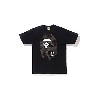 Bape Color Camo Big Ape Head Tee Black/Black - Clothing