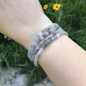 Cloud Quartz Mini Bead Bracelet