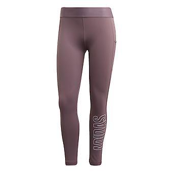 adidas Alphaskin 7/8 Womens Ladies Running Fitness Legging Purple