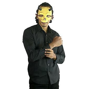 Maschera teschio cornuta corta