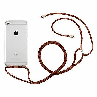 Custodia Aquarius per iPhone 7/8 con cavo collana marrone