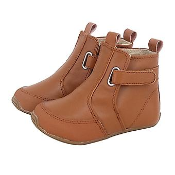 SKEANIE Toddler and Kids Leather Oxford Boots in Tan