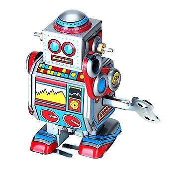 Generická vintage retro mechanická robotická plechová hračka