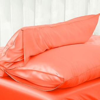 Simple Satin Silk Solid Color Bedding Single Side Silk Pillow Case/adult