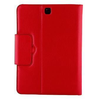 Pour Galaxy Tab A 9.7 / T550 & S2 9.7 / T810 2 en 1 boîtier en cuir de texture Bluetooth détachable avec support (rouge)