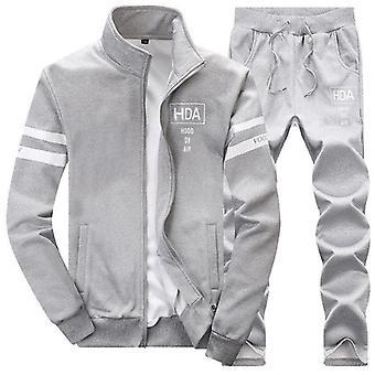 Men Sweatshirt Sporting Sets, Winter Jacket + Pants Casual Clothing