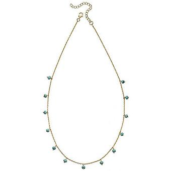 Beginnings Magnesite Bead Necklace - Gold/Blue