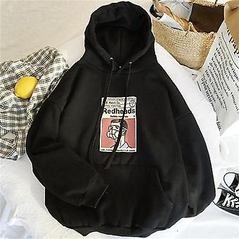 Huppari, Streetwear Puserot, Naisten Pitkähihaiset Fleece-puserot,
