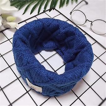 Girls Knitted Lic Scarf Cashmere Scarves Loop Neck Circle Warm Neckerchief